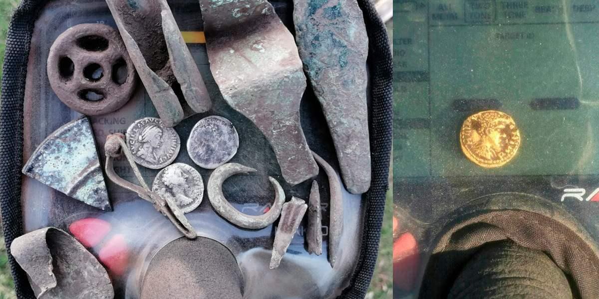 Находки с металлоискателем Makro Racer 2 (есть золото)